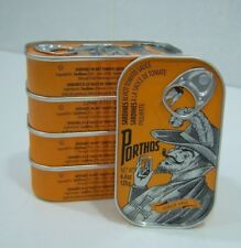 5 cans Portuguese SPICED SARDINES IN TOMATO SAUCE-PORTHOS Vintage-125g- Portugal