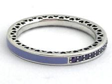 Authentic Radiant Hearts of Pandora Ring Lavender Purple 191011ACZ-58 Sz 8.5 New