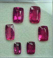 10.20 Cts Natural 100% cushan cut  Rubellite tourmline  Lot Excellent Color