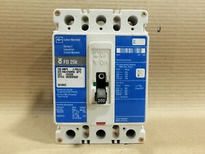 Cutler-Hammer FD3200 3 Pole 200 Amp 600V Blue Label Circuit Breaker