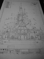 EURO DISNEY LAND  Sleeping Beauty Castle WED/WDI Blueprints- SET OF 46 SHEETS!!