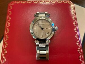 CARTIER Pasha C Silver Dial Automatic Unisex Stainless Steel Watch