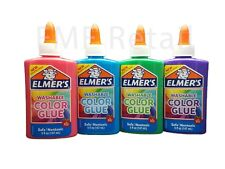 Elmers Washable Color Glue 4 pack Blue Pink Purple & Green Gr8 4 Slime & Crafts