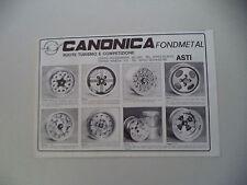advertising Pubblicità 1982 RUOTE CANONICA FONDMETAL - ASTI