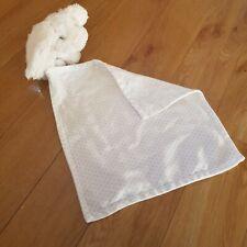 Primark White Bunny Rabbit Comforter Soother Blankie Soft Toy Polka Dot
