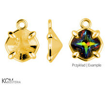 Pendant for Swarovski 4784 8 mm Greek Cross crystals W 165 - gold-plated silver