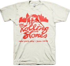 The Rolling Stones-Retro Mick-New York City 1975-X-Large Natural  T-shirt