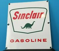 VINTAGE SINCLAIR GASOLINE PORCELAIN PUMP PLATE SERVICE STATION DINOSAUR SIGN