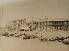 Egypte Port Saïd Photo Arnoux Vintage ca 1880