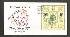 "Islas Pitcairn 1999 Hong Kong"" 97"" sello ex MINIPLIEGO FDC SG, MS510 Lote 4966 A"