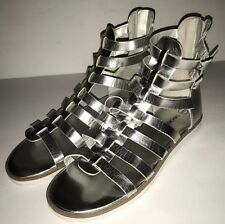 Cherokee Youth Girls  Gladiator Sandals Silver Size 6 GALYA buckles/zipper