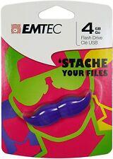 EMTEC 'Stache Mustache 4 GB USB Flash Drive, Purple