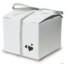 25 Caja Blanca Corazón Perla Cajas Para detalles, boda o fiesta