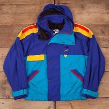 """Mens Vintage North Face Vertical Blue Gore Tex Ski Jacket Coat Large 42"""" R15275"""