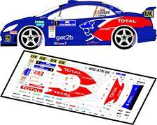 DECALS 1/43 PEUGEOT 307 WRC  #1 - KUCHAR - RALLYE BARBORKA 2009 - MFZ D43012
