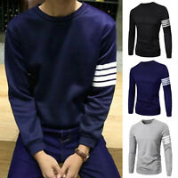 New Stylish Henley Slim Fit Casual Shirt Tee Cotton Men's Long Sleeve T-Shirt NW