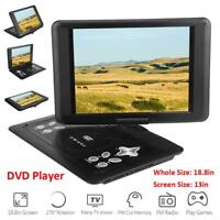 18.8'' Portable DVD Player Swivel Screen 16:9 Widescreen AVI EVD DVD SVCD VCD CD