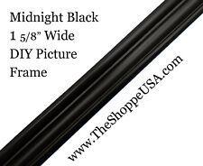 "Diy 30"" x 40"" 1 5/8"" Wide Midnight Black Scoop Wood Picture Frame Moulding"
