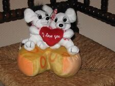 Valentines Day I love You Boy & Girl Mice on Cheese Plush