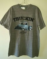 New w/Tag Chevrolet TRUCKIN' Graphics Logo Size L Tee Shirt Cotton Polyester
