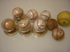 Collection Lot of 9 Vintage Base Balls - Some Signed - Junk Drawer Ball Game Fan