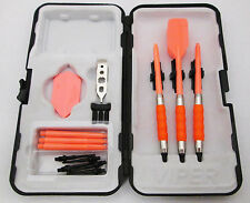 Neon Orange Slim Rubberized Sure Grip Soft Tip Dart Set + Case 16 gram - 3