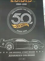 NEW Advanced Coloring Book Hot Wheels 50th Anniversary cars 1968 2018 die cast