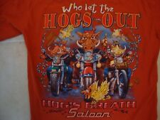 Hog's Breath Saloon Destin Souvenir Red T Shirt Size S