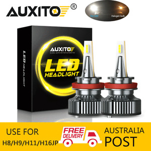 AUXITO 2X H11 H9 H8 LED Headlight Light Bulbs White Beam CANBUS Lamp 72W 16000LM