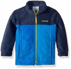 Columbia Baby Boys Steens Mt II Blue Fleece Jacket - Size 3-6M - NWT MSRP$30.00