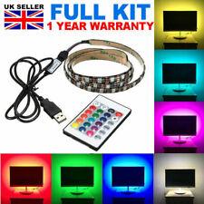 USB 1M-5M Light RGB Color 5050 LED Strip Light PC Backlight For Lap TV Xbox PS4