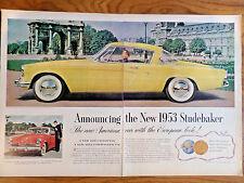1953 Studebaker Commander Starlight Coupe Factory Photo Ref. #91505