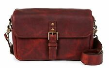 ONA Bowery Leather Messenger Bag Red Merlot Bordeaux