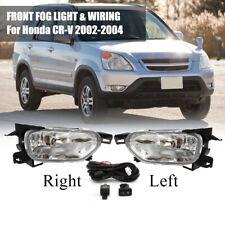 Fog Light Bumper Lamps Wiring Switch Kit For Honda CR-V CRV 2002 03 2004 Factory