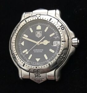TAG Heuer 6000 Men's Stainless Steel Quartz Watch WH1115-K1 XLNT!! ***NO BAND***