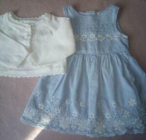 Baby Girls Cardigan & Dress Age 0-3 Months