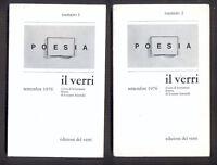 IL VERRI sesta serie n. 1 e 2  settembre 1976  Pesia