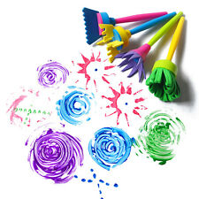 4Pcs/lot Sponge Painting Brush Flower Stamp Kids Diy Graffiti Drawing Toys Rvr