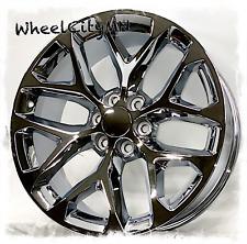 24 Inch Chrome Chevy Gmc Denali Cadillac Snowflake Oe Replica Wheels 6x55 30