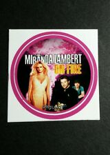 "MIRANDA LAMBERT ON FIRE PINK BAND PHOTO SMALL 1.5"" GET GLUE GETGLUE STICKER"