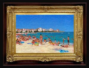 "ORIGINAL Oil Painting Handmade Arseni ~ SEA 6"" X 4"" NO FRAME Artist2 REMBRANDT"
