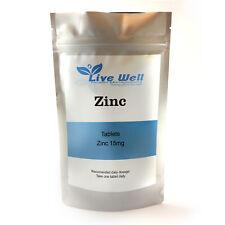 Zinc Citrate 15mg - 500 Tablets 100 % RDA- Wellness -Vegan UK Made