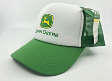 JOHN DEERE WHITE / GREEN TRUCKER CAP