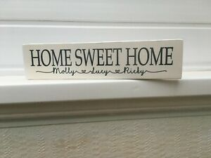 Home Sweet Home Personalised Wooden Sign plaque House Warming Gift sign