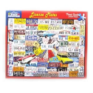 White Mountain License Plates Puzzle 24 by 30 Inches 1000 Pieces Complete