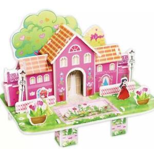 3D DIY Fairytale Cartoon Puzzle Jigsaw Castle House for Kids Babies Fun Toy Gift