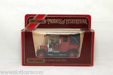 Matchbox Yesteryear Y28 1907 Unic Taxi rouge Mint/Box  (#A24)