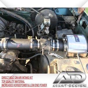 """94-96 Fits FORD F150 BRONCO XL XLT 5.0 5.0L 5.8 5.8L V8 3.5"""" PIPE AIR INTAKE KIT"""