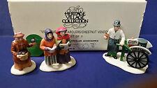 Dept 56 55808 S/3 Violet Chestnut Vendor Carolers Heritage Village Retired W/Box