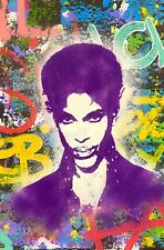 Dean Russo Art Original Artwork Music Prince Guitar Musician Pop Art Portrait